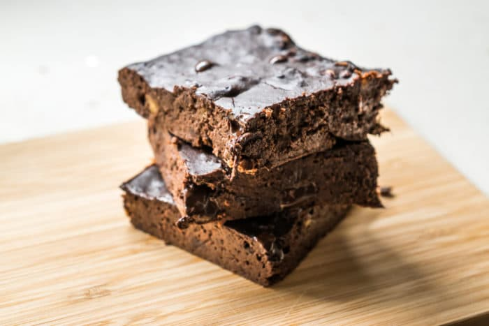 brownie con farina di carrube