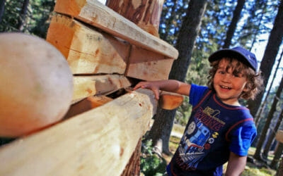Bosco delle Sfere in Austria: una maxi-pista di biglie in legno per grandi e piccini