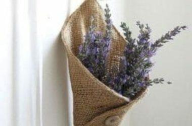 Come riciclare sacchi di iuta per dare un tocco raw e vintage alla casa