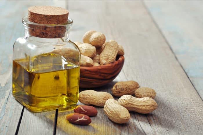 Olio di arachidi: ricco di vitamina E