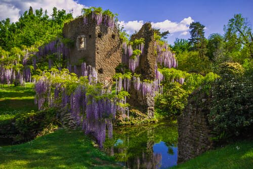 giardini botanici più belli del mondo - Giardini di Ninfa a Latina