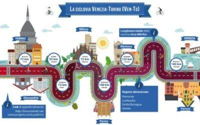 La ciclovia Vento è la strada che unisce Torino a Venezia, a piedi o in bicicletta