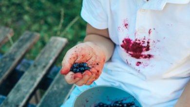 pulire macchie di frutta