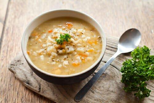 zuppa di orzo perlato