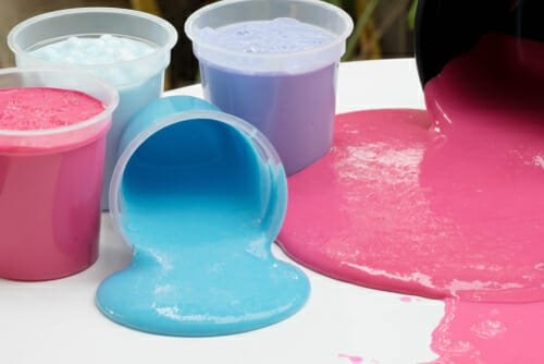 come fare lo slime colorato