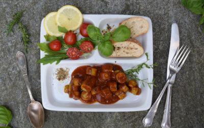 Come preparare la variante vegana della ricetta del Currywurst, il tipico piatto berlinese