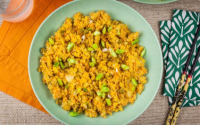 Ricetta del risotto con verdure e salsa tamari