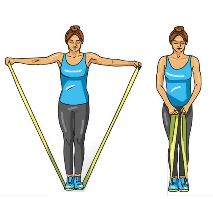 esercizi da eseguire con gli elastici fitness