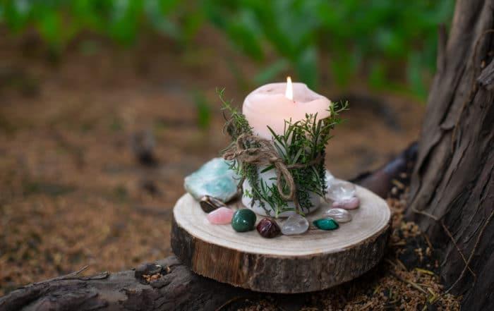 candela di cera vegetale