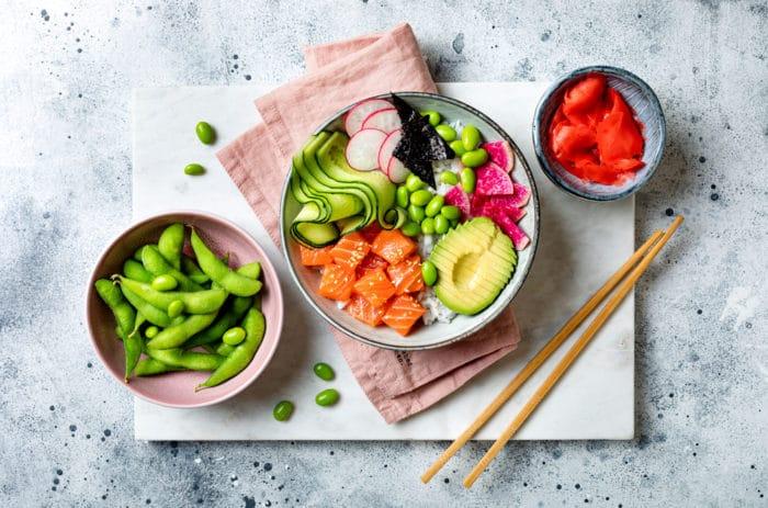 buddha bowl con salmone